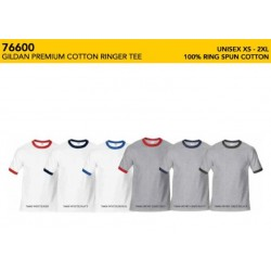 76600 Premium Cotton Adult Ringer T-Shirt
