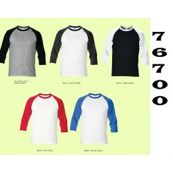 76700 Premium cotton Adult 3/4 sleeve raglan T-shirt