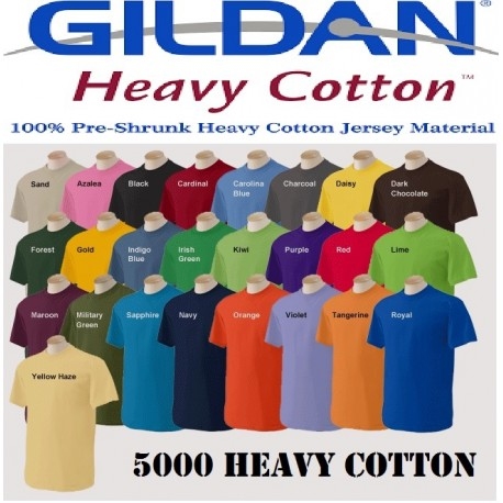 5000 Heavy cotton Adult Tee Shirt