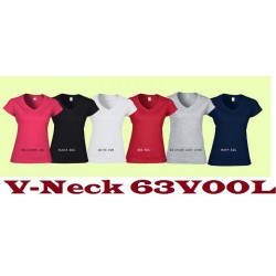 63V00L SoftStyle Ladies V-Neck Tee Shirt