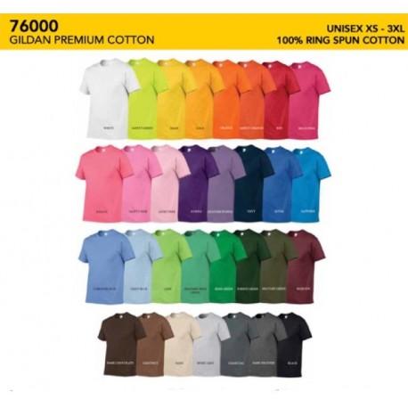 76000 Premium Cotton Adult Tee Shirt