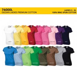 76000L Premium Cotton Ladies Tee Shirt