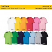 76000B Premium Cotton YOUTH Tee Shirt