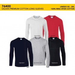 76400 Premium Cotton Adult Long Sleeve Tee Shirt