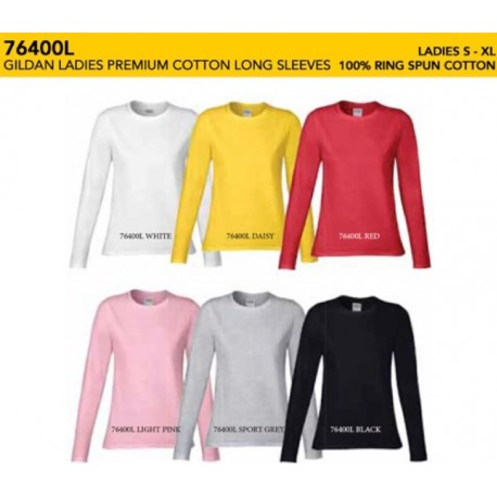 76400L Premium Cotton Ladies Long Sleeve