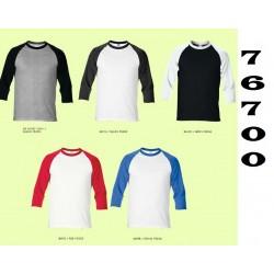 76700 Premium cotton Adult 3/4 sleeve raglan T-shirt
