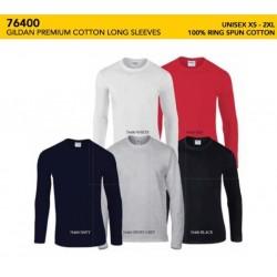 76400 Premium Cotton Adult Long Sleeve Tee Shirt